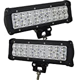 Willpower 9 inch 54W LED Work Light Bar Spot Beam Lights for Heavy Duty Car Pickup Vehicles SUV UTV Jeep Truck Off Road 4WD Boat(2 Pcs,Spot)
