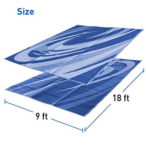 EasyGoProducts EGP-RVM-012 9x18 9' x 18' RV Mat - Wave Pattern - - 9 X Mats 18