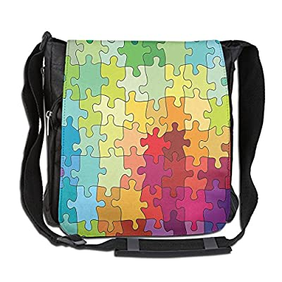 2db0466ab4 durable service Lovebbag Colorful Puzzle Pieces Fractal Children Hobby  Activity Leisure Crossbody Messenger Bag