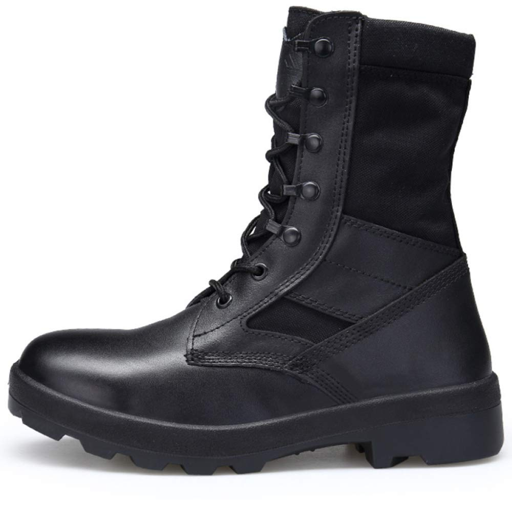 Stiefel Herren Desert Combat Stiefel Chukka Martin Stiefel Outdoor-Schneeschuhe Arbeitsschuhe Schnürschuhe Wandern Bequem Atmungsaktiv