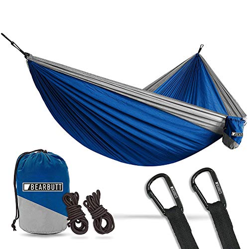 Bear Butt Hammocks - Camping Hammock for Outdoors, Backpacking & Camping Gear - Double Hammock That is a Portable 2 Person Hammock for Travel, Outdoor, Tree & Hiking Gear - Holds 700lb - USA Brand