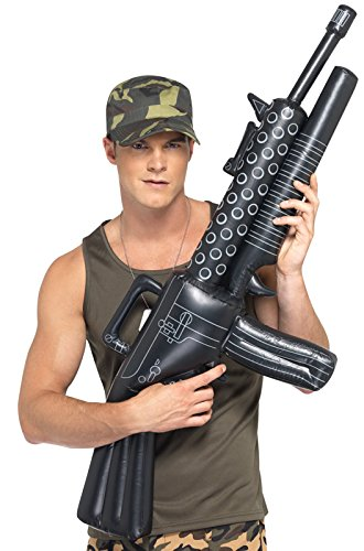 Smiffys Inflatable Machine Gun, Black, One -