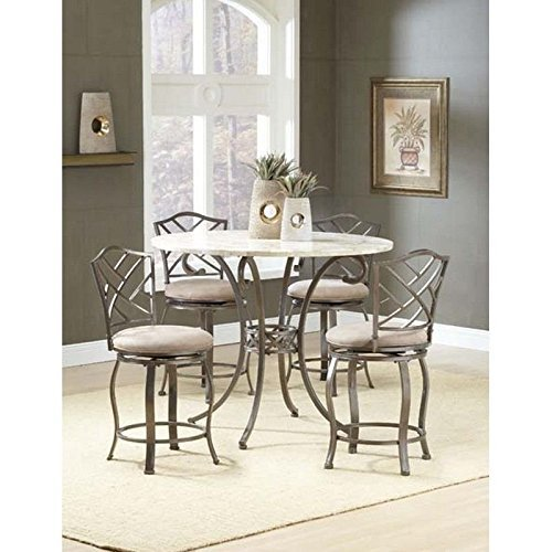 Home Buddy Brookside 5-Piece Counter Height Dining w/Hanover Stools