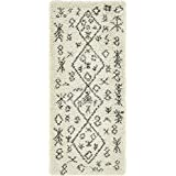 """Unique Loom Marrakesh Shag Collection Pure Ivory 3 x 6 Runner Area Rug (2' 7"""" x 6')"""