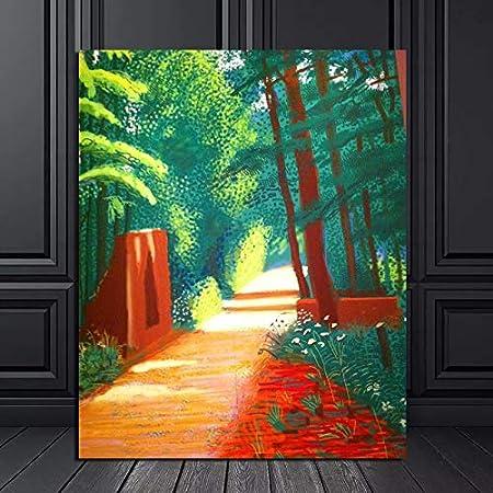 KWzEQ Escena Escena impresión Lienzo Pintura Sala de Estar decoración del hogar Pintura al óleo Moderna Pared Arte Cartel Foto,Pintura sin Marco,60x75cm