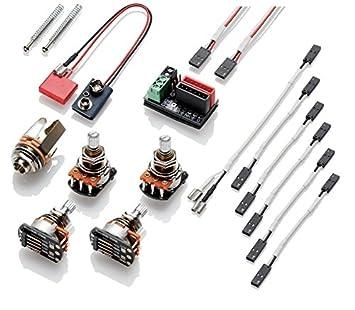 emg 1 or 2 pickup wiring kit push pull short shaft amazon co uk rh amazon co uk EMG Wiring Harness 1 Pickup Guitar Wiring