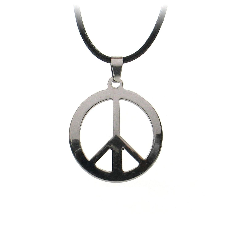 Peace sign necklace punk hippie manga anime peace peace sign cnd peace sign necklace punk hippie manga anime peace peace sign cnd symbol with chain strap amazon jewellery buycottarizona Gallery
