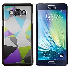 Jordan Colourful Shop - Polygon Pattern For Samsung Galaxy A7 Personalizado negro cubierta de la caja de pl????stico