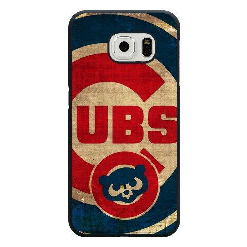 Galaxy S6 Edge Case, Onelee(TM) MLB Chicago Cubs Samsung Galaxy S6 Edge Case [Black Hard Plastic]