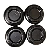 Solid Wood Piano Caster Cups Pad Set of 4 Black
