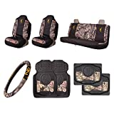 truck accessories mossy oak - Browning 8 Pc Universal Auto Accessories Kit, Mossy Oak Break-Up Country Camo
