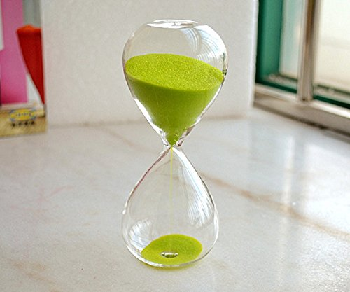 15 Minutes Sand Clock Sandglass Hourglass Timer Home Decor Birthday Xmas Gift (Green)