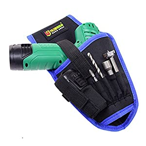 SUPPION Portable Cordless Drill Holder Holst Tool Pouch Drill Waist Tool Oxford Cool Bag (Blue)