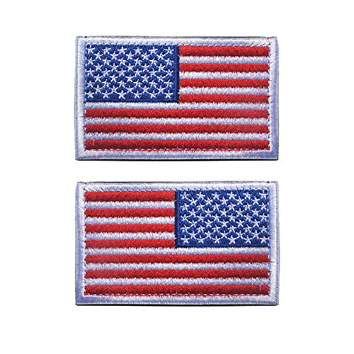 - Easyinsmile American Flag Patches Embroidered Sew on Reverse Right Arm and Left Arm for Hat, Jackets, Shirts, Clothes (3.5