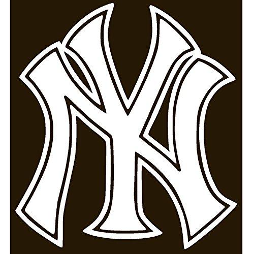 - Y0RK Yankees Vinyl Sticker Decal Car Bumper Window MacBook Laptop iPhone Macbookpro (White, 5.4