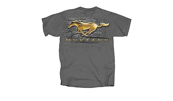 Ford Gold Splatter Mustang Pony T Shirt