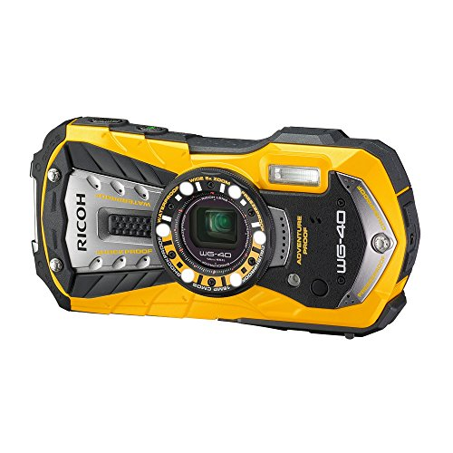 RICOH Waterproof digital camera RICOH WG-40 Yellow waterproof 14m Withstand shock 1.6m Cold -10 degrees RICOH WG-40 YL 04681