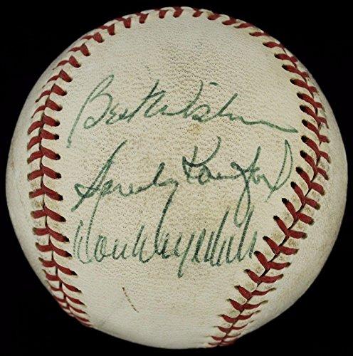 Vintage 1960s Sandy Koufax & Don Drysdale Dual Signed Baseball #Z23477 - JSA Certified - Autographed Baseballs