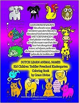 Beste LEER DIERENNAMEN KLEURBOEK VOOR KINDEREN DUTCH LEARN ANIMAL NAMES KY-47