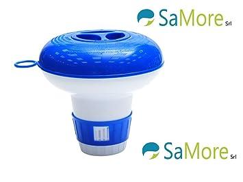 Piscina piscinas dispensador dosificador flotador cloro plástico grande para 200 gr: Amazon.es: Jardín