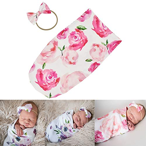 Newborn Cocoon Sack Baby Boy Girl Cocoon Swaddle with Bow Headdress - Newborn Cocoon