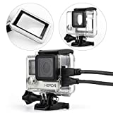 WiserElecton Side Open Skeleton Housing For GoPro Hero4 Hero3+ Hero 3 cameras With Bacpac Touched Panel LCD Screen Protective backdoor and lens