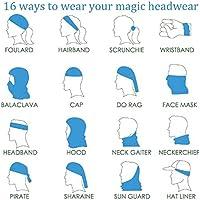 Ukraine EU Flag Headband Unisex Headwrap Magic Head Scarf Bandana Headwear Neck Scarf Microfiber Pirate Hat Liner Cool Headdress Wristband Face Mask Neck Gaiter