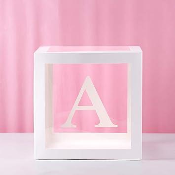 Amazon.com: Caja de globos transparentes para decoración de ...