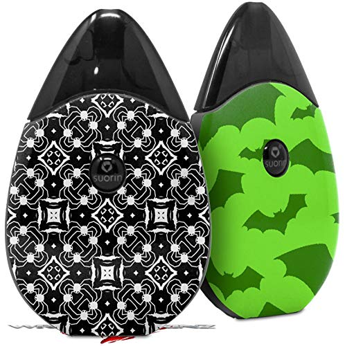 Skin Decal Wrap 2 Pack Compatible with Suorin Drop Spiders Vape NOT Included (Spider Vape)
