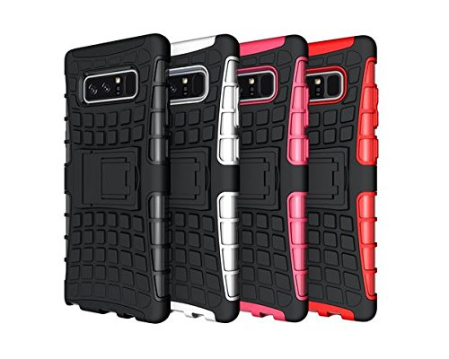 Price comparison product image Galaxy Note 8 Case, HLCT Rugged Shock Proof Dual-Layer Case with Built-In Kickstand for Samsung Galaxy Note 8 (2017) (Black)
