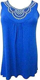 ba5356b5c22 Click Selfie Ladies Plus Size Sequin Royal Stud Detail Beaded Design  Evening Tunic Tops 12-