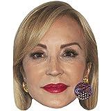 Carmen Lomana (Red Lipstick) Celebrity Mask, Card Face and Fancy Dress Mask