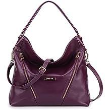 BIG SALE-AINIMOER Womens Leather Vintage Shoulder Bag Ladies Handbags Tote Top-handle Purse Cross Body Bags
