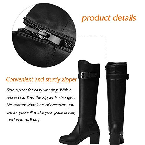 E Profesional Calzado Invierno Sobre Además Tacón Uso Zapatos Para De Otoño Cálido Brown Rodilla Mujer Alto La Terciopelo Botas Tf16w0qw