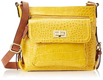 Jessica Simpson Elena Cross Body Bag,Mustard/Safari,One Size