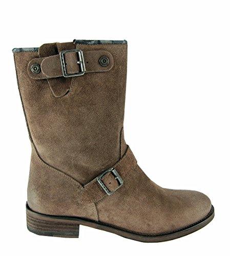 Hilfiger Denim - Botas de cuero para mujer marrón Saddle 41