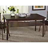 Muses Rectangular Table | Slight Distressed with Weathered Walnut - Turned Legs