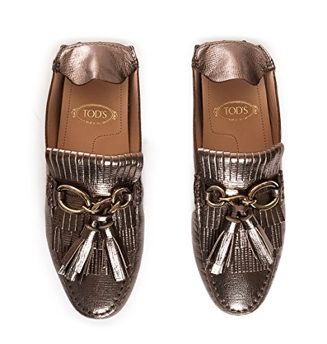 Tod's Women's XXW00G0T990HESC400 Bronze Leather Loafers kDxB1n1Kd