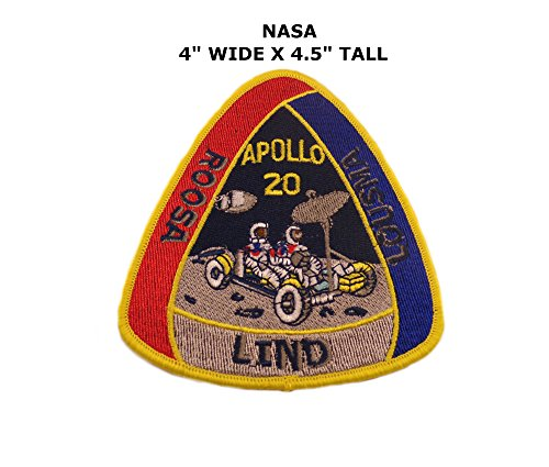 Nasa Clothing Patch (NASA Apollo 20 Iron or Sew-on Patch)
