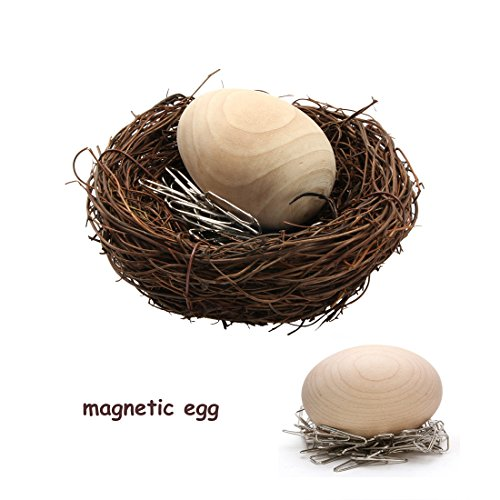 - Magnetic Egg Paper Clip Holder Dispenser Holder, Egg+Nest