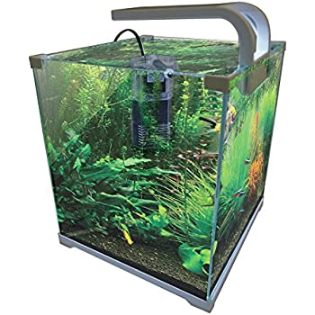 Vepotek AQUARIUM FISH TANK NANO Kit 4 Gallons w/LED light and filter