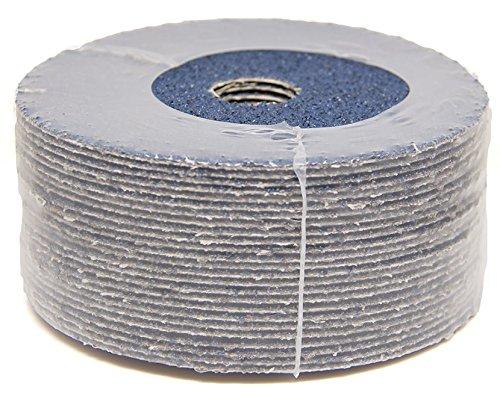 25 Pack 5 x 7//8 50 Grit Zirconia Resin Fiber Sanding Grinding Discs