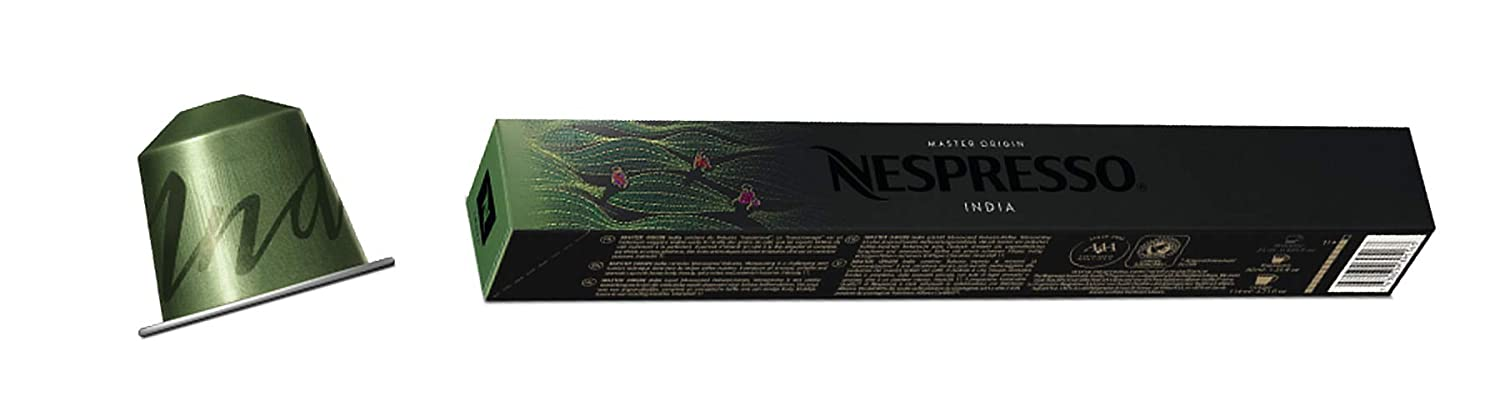 Nespresso Origin 2018 Variety India 5 Sleeves - 50 capsules, NOT compatible  with Vertuo Line