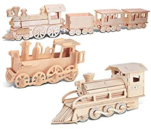 Amazon.com: Puzzled Rolling Locomotive, Steam Train and
