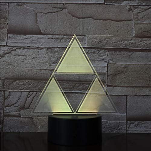WoloShop Lampe LED The Legend of Zelda Triforce Changement