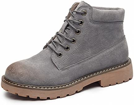1c60d940a ZH Zapatos de Mujer en Botas de Mujer de Invierno Planas del Oeste Borran Botas  Cortas de Cuero