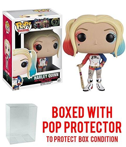 Suicide Squad Harley Quinn Funko Pop Vinyl Toy With Box Protector (Batman Arkham City Harley Quinn Costume)