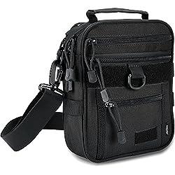 ProCase Pistol Bag, Military Gear Tactical Handgun Shoulder Strap Bag Gun Ammo Accessories Pouch Shooting Range Duffle Bag for Shooting Range Sport - Black