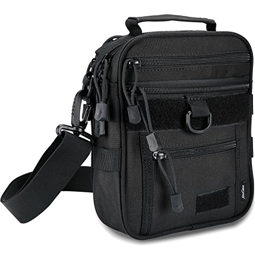 ProCase Pistol Bag, Military Gear Tactical Handgun Shoulder Strap Bag Gun Ammo Accessories Pouch Shooting Range Duffle Bag for Shooting Range Sport - Black