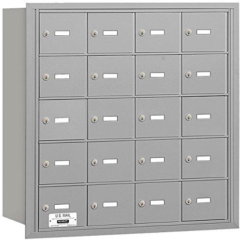 Salsbury Industries 3620ARU 4B Plus Horizontal Mailbox, 20 A Doors, Rear Loading, USPS Access, Aluminum